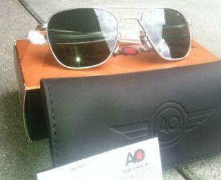 AO American Optical Pilot Sunglasses Green Lens Original Military