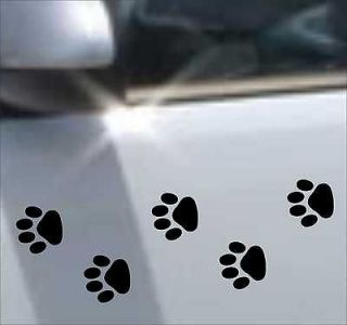 10 Cat Dog PAW PRINTS paws decal sticker vinyl art car bike home