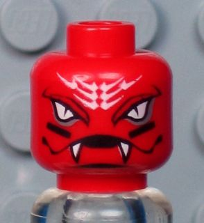 A305 NEW Lego Ninjago SNAPPA Minifig RED SNAKE HEAD w/FANGS Alien