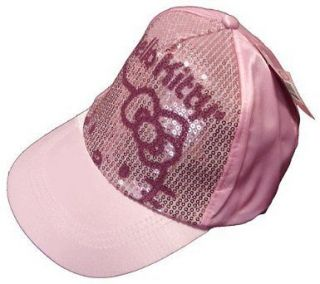 Hello Kitty Sequin Sun Baseball Fashion Cap Pink For Girls Ladies