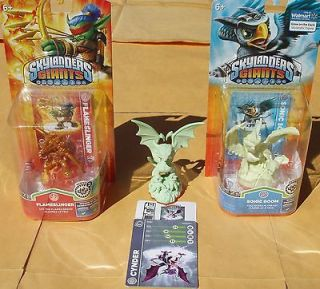 Spyros Giants Glow Dark Cynder Gold Flameslinger Sonic Boom lot