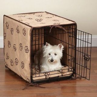 ProSelect Pawprint 2 Pc Dog Crate Cover & Bed Set Camel