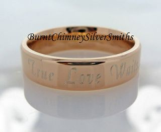 Personalized True Love Waits Promise Ring Rose Gold Stainless Steel