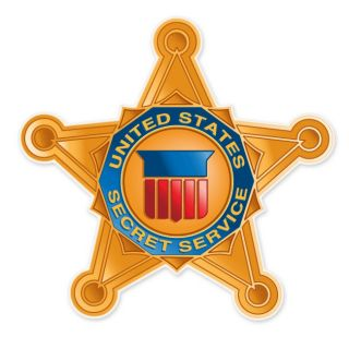 Secret Service Badge Star car bumper sticker decal 4 x 4