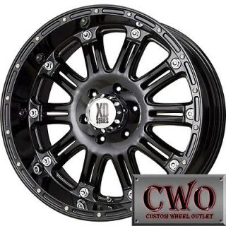 17 Black XD Series Hoss Wheels Rims 5x127 5 Lug Jeep Wrangler Chevy