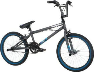 Mongoose Scan R10 20 Freestyle BMX Bike Boys Bicycle   Matte Grey