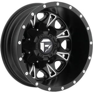 17x6.5 Black Fuel Throttle Dually Rear Wheels 8x210  129 CHEVROLET GMC