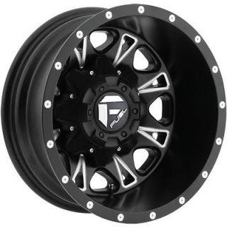 17x6.5 Black Fuel Throttle Dually Rear Wheels 8x210  129 CHEVROLET GMC