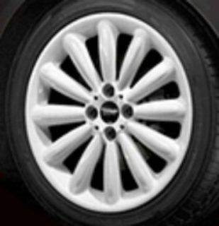 Cooper 17 R116 White Infinite Stream Rim Wheel with Hubcap New OEM