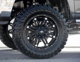 18 Inch Fuel Hostage Black Off Road Wheel & Tire Package