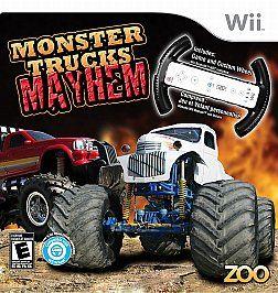 Newly listed Monster Trucks Mayhem (with Custom Wheel) (Wii, 2010)