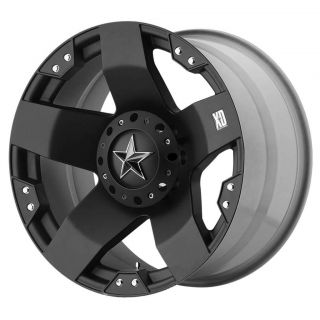 XD Rockstar Matte Black Wheels 6x135 6x5.5   F 150 / GM 1500 / SUV