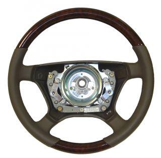 W140 Wood Steering Wheel 98 05, Half Wood/Half Leather