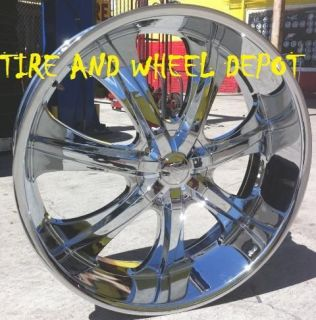 28 INCH V725 RIMS WHEELS AND TIRES C 10 IMPALA CAPRICE ROADMASTER