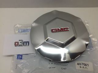 2002 GMC Envoy Bright Aluminum Center Cap W/ Red GMC Logo 9593397