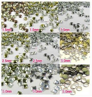 Nail Art Glitter Metal Alloy Studs Rivet Punk Style Round Star Square