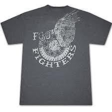 FOO FIGHERS Gray Shir WHEEL Logo many sizes grohl