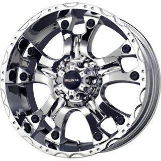 20 inch Ballistic Hostel chrome wheels rims 5x150 +12