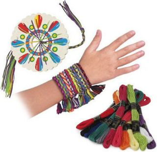 Cool Friendship Bracelet Party Pack Activity Skeins Cord Thread Wheel
