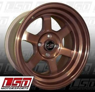 15 ROTA GRID V SPORTS BRONZE RIMS WHEELS 15x8 +0 4x100 MIATA SCION XB