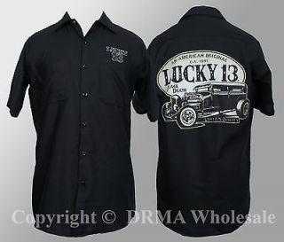 Authentic LUCKY 13 WorkShirt American Original M L XL XXL 3XL
