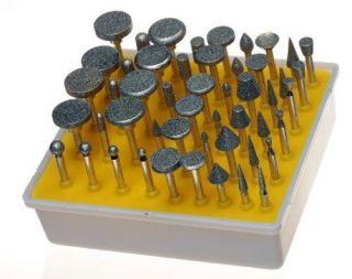 50pc DIAMOND BURR Bit Set for DREMEL Rotary Tools 1/8 150 Grit