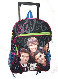 Big Time Rush 16 Backpack on wheels roller Brand New gift present