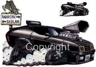 Mad Max Interceptor Muscle Car Cartoon Tshirt #9226