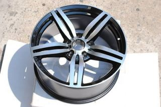 M6 Replica 18 Black Machine Face Wheels Stagger Rim 5 series 525i
