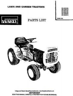 Montgomery WARDS Gilson Bros Tractors PARTS MANUAL GIL 33416A thru