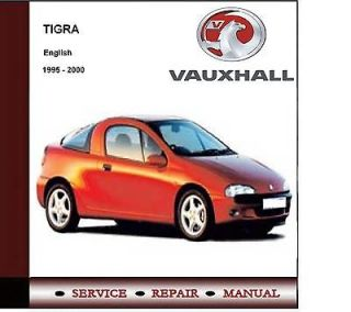 VAUXHALL OPEL TIGRA 1995   2000 WORKSHOP SERVICE MANUAL