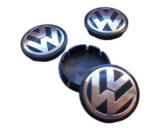 VW Black Wheel Center Cap Jetta Golf Passat Polo Mk4 4 pcs 1J0601171