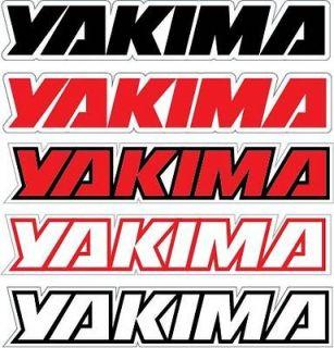 YAKIMA Sticker Decal *PICK LOGO SIZE* Racing Car Truck Helmet Bike
