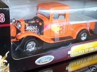 1934 FORD PICKUP TRUCK PRO STREET ORANGE 1/18 NEW