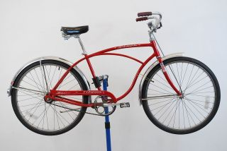Vintage Used 1968 Schwinn Typhoon 2  Speed Red Cruiser Bicycle Made in