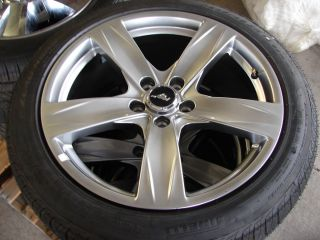 19 2013 Ford Mustang GT 5 Spoke Wheels Rims with Pirelli Tires