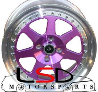 15 ROTA J MAG PURPLE RIMS WHEELS 15x7 +40 4x100 MINI COOPER CIVIC