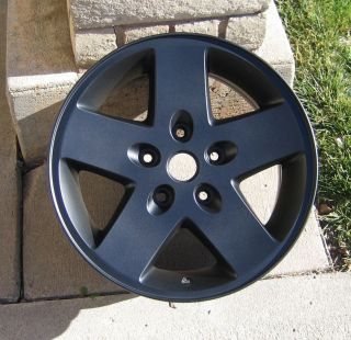 Jeep Wrangler 17 Matte Black Powder Coat Wheels 9074 2007 2012