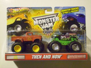 Hot Wheels 2012 Monster Jam 1 64 Then Now Grave Digger