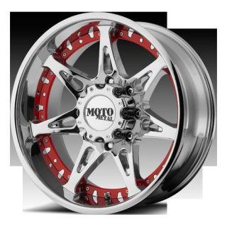 20 Moto Metal 961 Chrome Wheels 2011 2012 2500HD 3500HD GM GMC