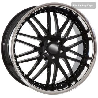 22 inch black rims wheels fit BMW X5 2012 X6 mesh chrome lip Clearance