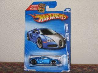 2010 Hot Wheels Hot Auction Series Bugatti Veyron Satin Blue VHTF