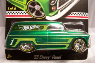 HOT WHEELS 2012 KMART MAIL IN EXCLUSIVE 55 CHEVY PANEL DELIVERY WITH
