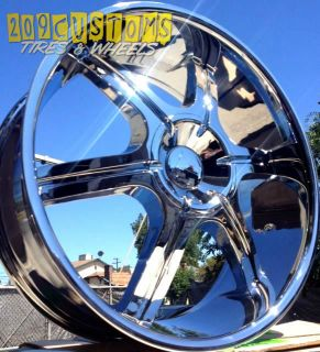 24 inch Wheels Rims Tires VW935 Chrome 6x135 Expedition 2007 2008