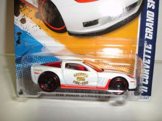 2012 HOT WHEELS 2011 CHEVY CORVETTE GRAND SPORT ROANOKE FIRE EMS #162