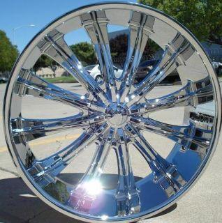24 inch Wheels Rims Chrome BW15 6x139 7 30 Tahoe 2007 2008 2009 2010