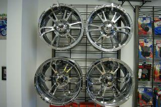 2004 to 2010 Yamaha Rhino ITP SS 112 Chrome Wheels Mags Rims VGC
