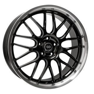 18 Enkei Lusso Black Rims Wheels Cobalt Malibu Saab 93