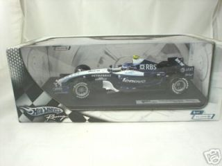 Hot Wheels Racing Williams Alex Wurz 2007 F1 1 18