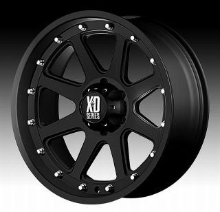 17 XD Addict Black Wheels Rims 6x5 5 6 Lug Chevy GM Toyota Tacoma